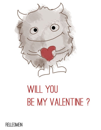 Valentinskarte Will you be my valentine? | relleoMein