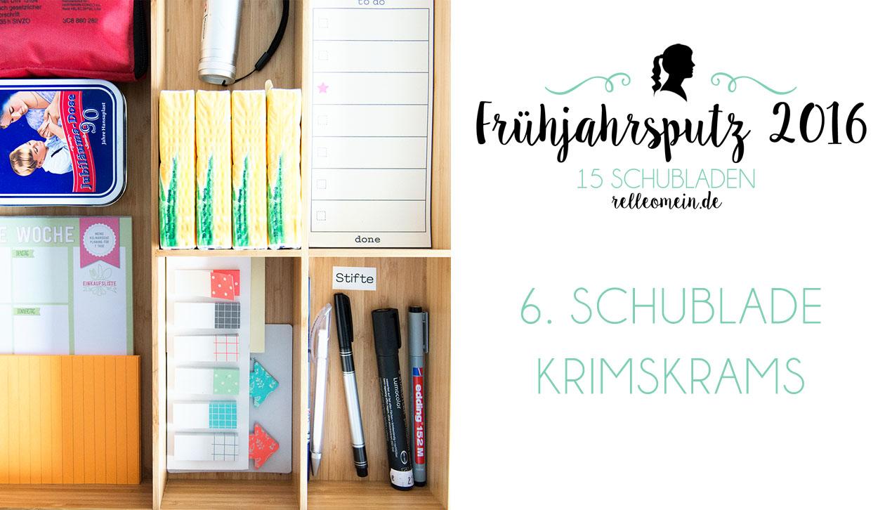 Frühjahrsputz 2016 – Krimskrams Küchenschublade (Video)