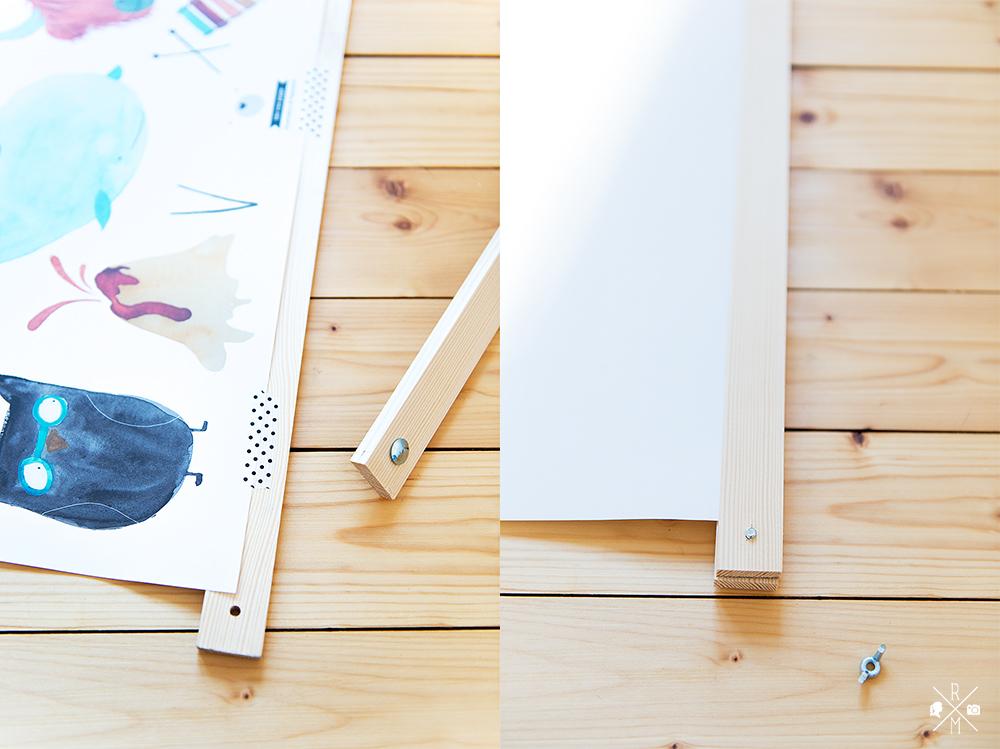 diy posterleiste g nstig und schnell selbst gemacht rezepte ordnungsideen und diy. Black Bedroom Furniture Sets. Home Design Ideas