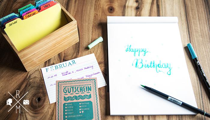 Geburtstagskalender zum selber machen
