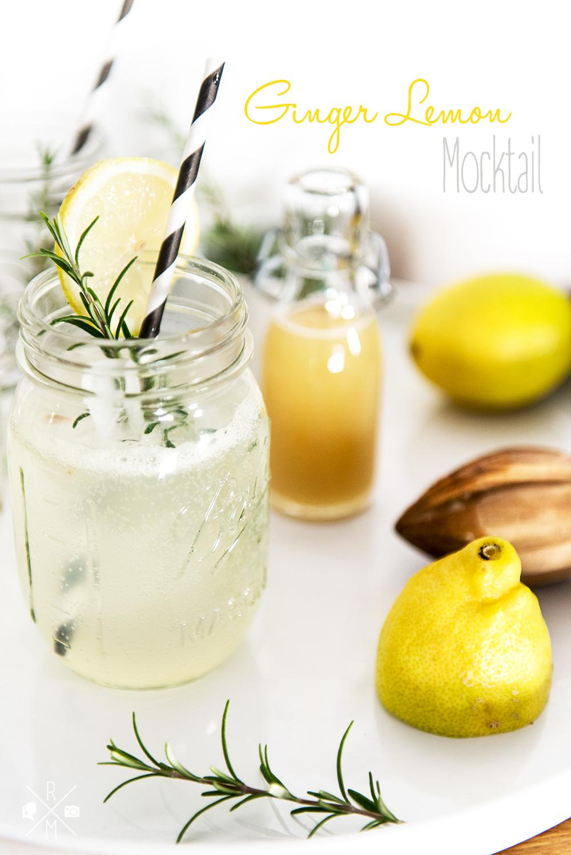 Ginger Lemon Fizz - alkoholfreier Ingwer Zitronen Cocktail mit selbst gemachtem Ingwersirup | relleomein.de