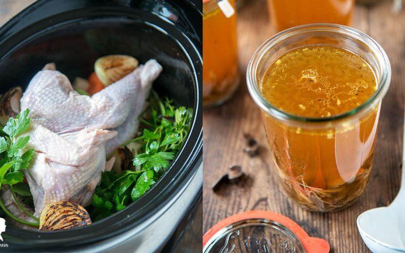 Slow Cooker Rezept – Hühnersuppe zum Einkochen