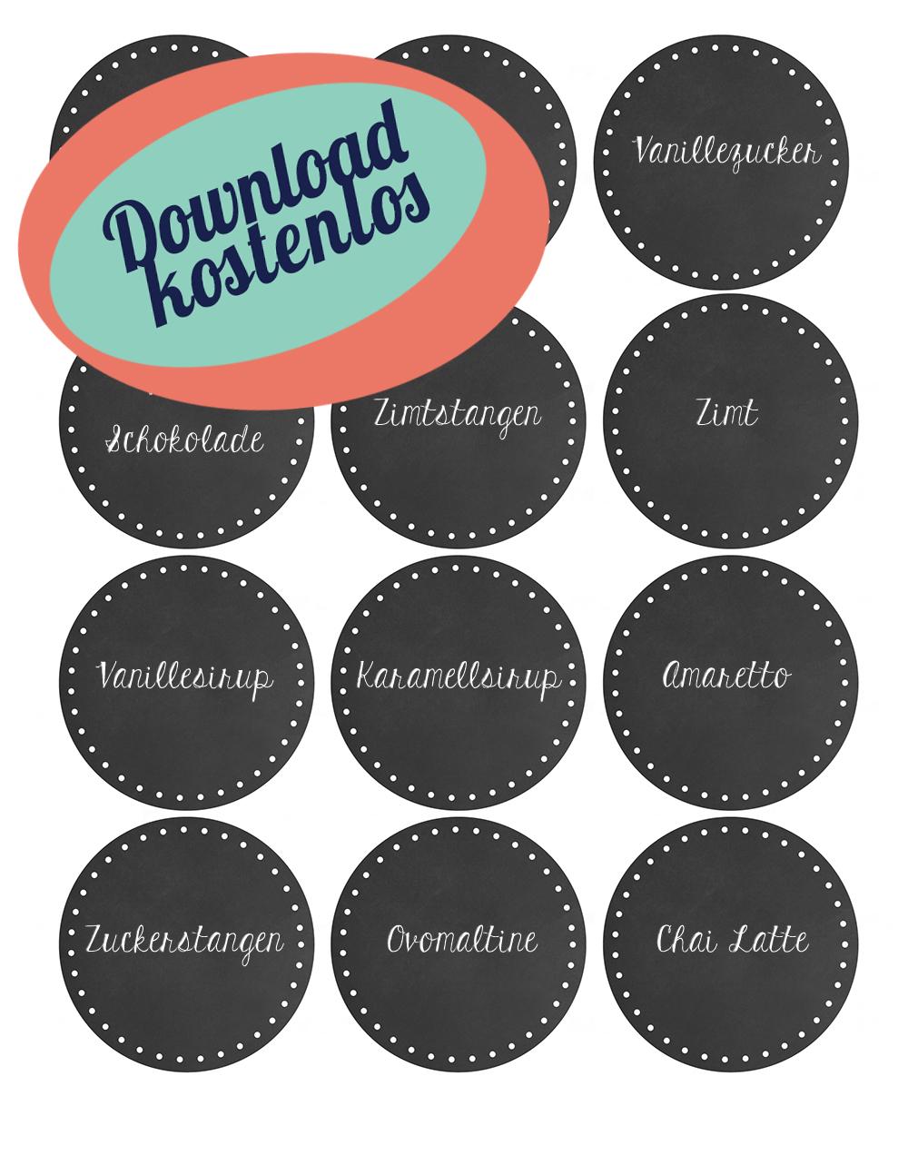 Kakaobar - heißer Kakao - Weihnachtsdekoration für die Küche - Hot Chocolatebar | relleomein.de