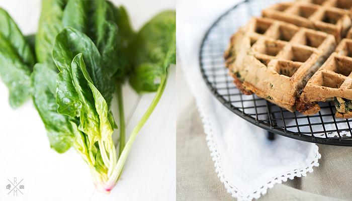 Herzhafte Waffeln mit Spinat und Käse (inkl. Thermomix Rezept)