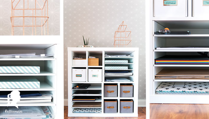 mehr ordnung f r meine schreibtisch mit kallax einsatz. Black Bedroom Furniture Sets. Home Design Ideas