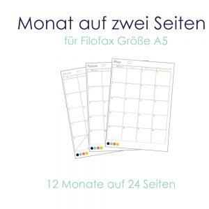 Filofax Einlagen 2017 - A5 Download