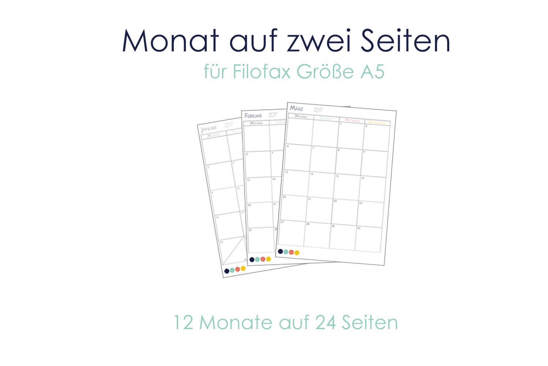 Startseite / Filofax 2017 / Kalendereinlagen 2017 – 12 bunte Monate ...