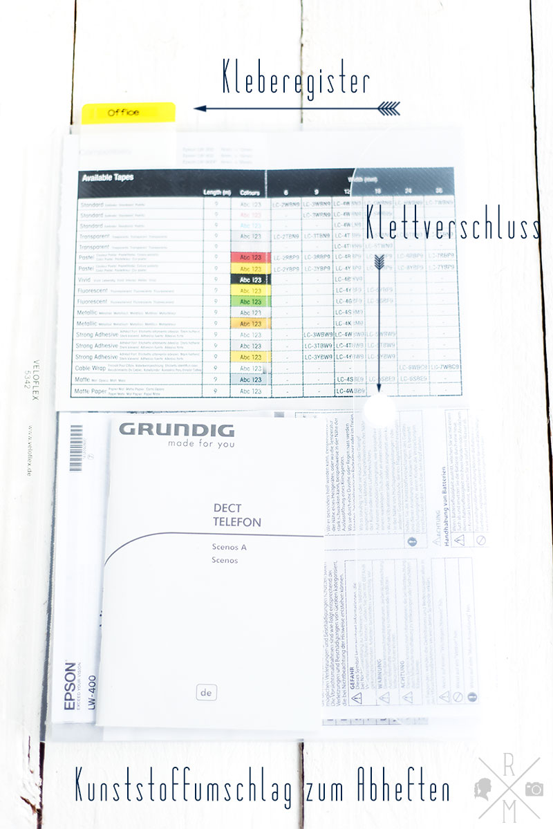 Ein Ordner für Betriebsanleitungen und Garantiezettel | relleomein.de #ordnung #organizemylife #aufräumen