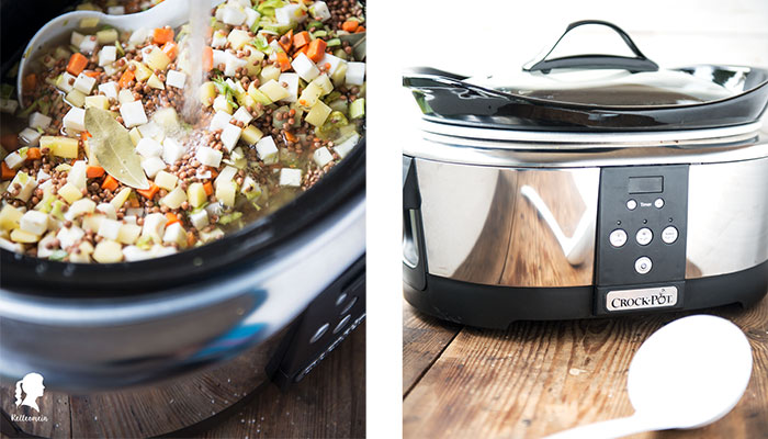 Slow Cooker Rezept – vegetarische Linsensuppe