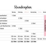 Zeit ist jetzt - Strukturiert und organisiert bloggen - Mein Blog Stundenplan | relleomein.de
