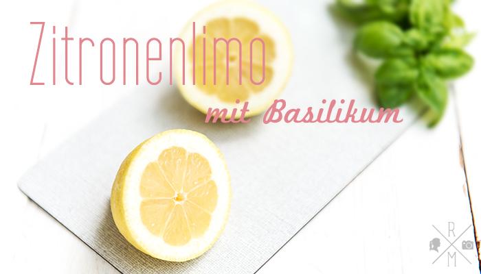 Zitronenlimo mit Basilikum